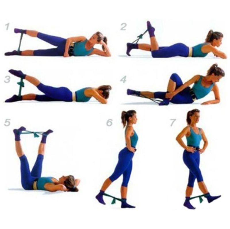 Похудение ног и бедер — упражнения, махи